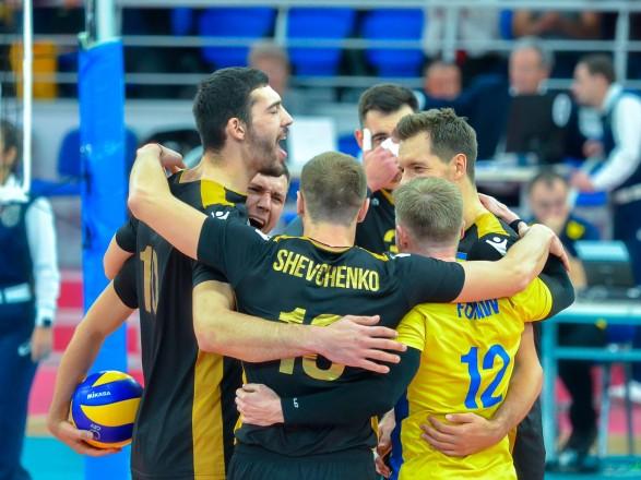 Мужская сборная Украины по волейболу победила команду Швейцарии